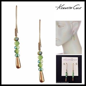 KENNETH COLE BEADED CRYSTAL STONE DROP EARRING A3C